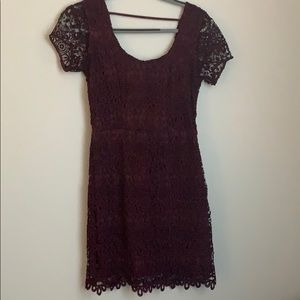 burgundy dress, worn once